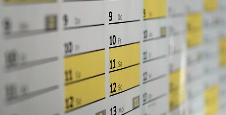 Imagen de un calendario para elecciones 2020
