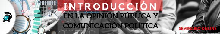 Banner Seminario Introducción en la opinión publica y comunicación política
